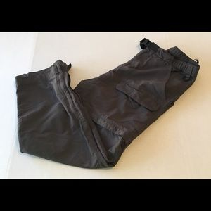 North Face Dark Grey Zip Off Pants Convertible